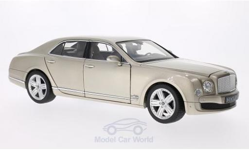 Bentley Mulsanne 1/18 Rastar metallic-beige miniature