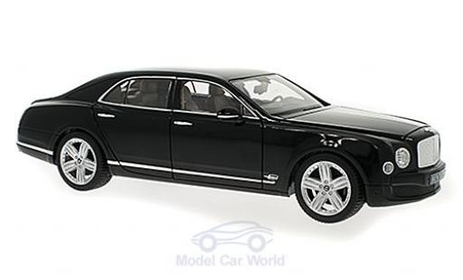 Bentley Mulsanne 1/18 Rastar black diecast model cars