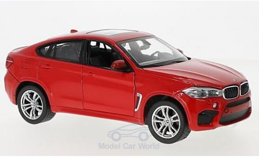 Bmw X6 1/24 Rastar M rouge miniature