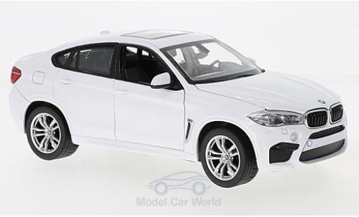 Bmw X6 1/24 Rastar M white diecast model cars