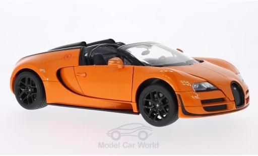 Bugatti Veyron 1/18 Rastar 16.4 Grand Sport Vitesse orange diecast model cars