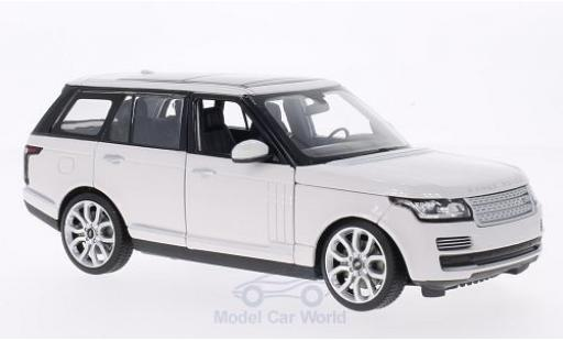 Land Rover Range Rover 1/24 Rastar white diecast model cars