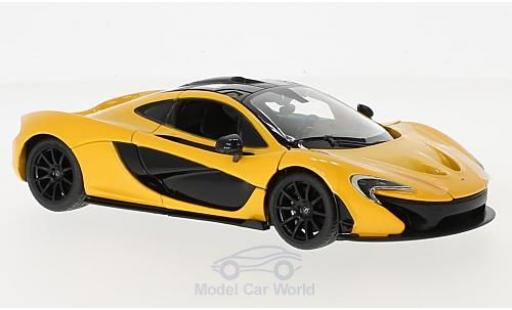 McLaren P1 1/24 Rastar yellow diecast model cars