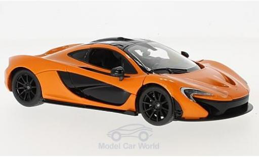 McLaren P1 1/24 Rastar orange diecast model cars