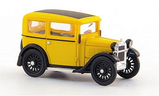 Bmw Dixi 1/87 Ricko yellow 1929 ohne Vitrine diecast model cars