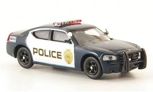 Dodge Charger 1/87 Ricko bleue/blanche Police Polizei (USA) miniature