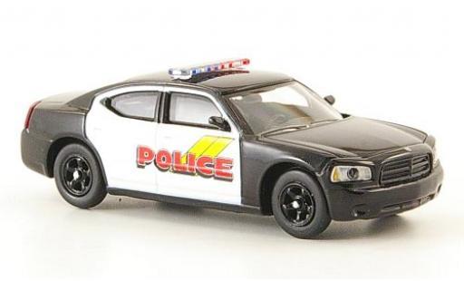 Dodge Charger 1/87 Ricko schwarz/weiss Police Polizei (USA) ohne Vitrine modellautos