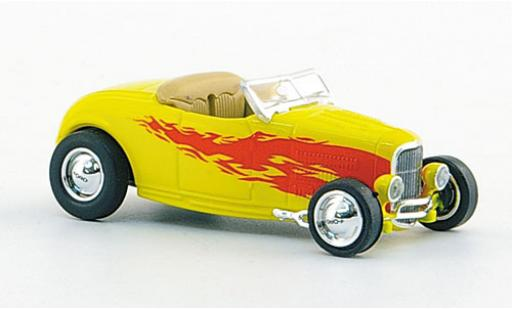 Ford Hot Rod 1/87 Ricko Roadster amarillo/Dekor 1932 miniatura