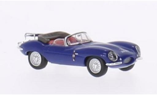 Jaguar XK 1/87 Ricko SS bleue RHD Verdeck ouvert sans Vitrine miniature