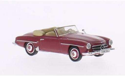 Mercedes 190 1/87 Ricko SL (W121 BII) rosso ohne Vitrine miniatura