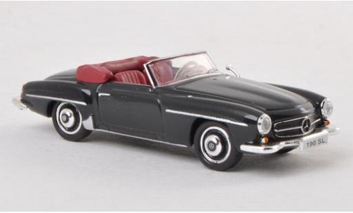 Mercedes 190 1/87 Ricko SL (W121 BII) negro ohne Vitrine miniatura