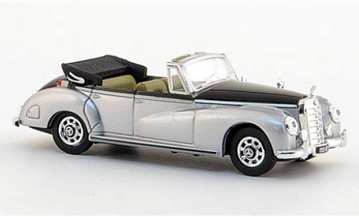 Mercedes 300 1/87 Ricko C Cabriolet grise/noire 1955 miniature