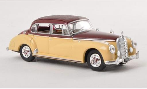 Mercedes 300 1/87 Ricko c (W186) beige/marron 1955 ohne Vitrine miniatura