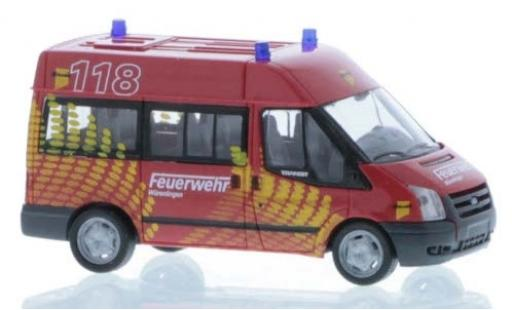 Ford Transit 1/87 Rietze HD Bus Feuerwehr Würenlingen 2006 diecast model cars