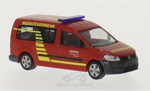 Volkswagen Caddy 1/87 Rietze Maxi Werkfeuerwehr Siemens Erlangen miniature