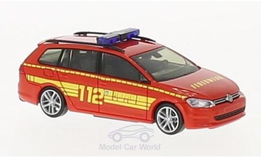 Volkswagen Golf V 1/87 Rietze 7 ariant Feuerwehr Bad Soden a. Taunus coche miniatura