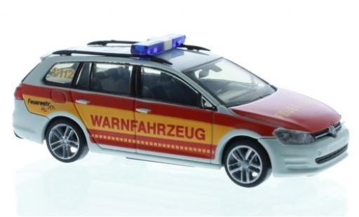 Volkswagen Golf 1/87 Rietze VII Variant Feuerwehr Hürth Warnfahrzeug coche miniatura
