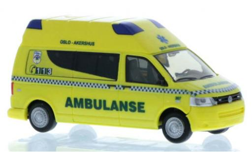 Volkswagen T5 1/87 Rietze Ambulanse (NO) 2010 diecast model cars