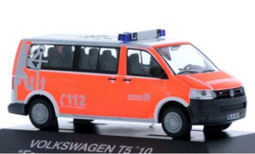 Volkswagen T5 1/87 Rietze Bus Feuerwehr Düsseldorf 2010 coche miniatura