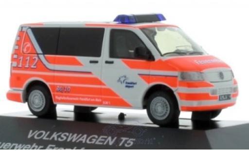 Volkswagen T5 1/87 Rietze Bus Flughafenfeuerwehr Frankfurt/Main miniature