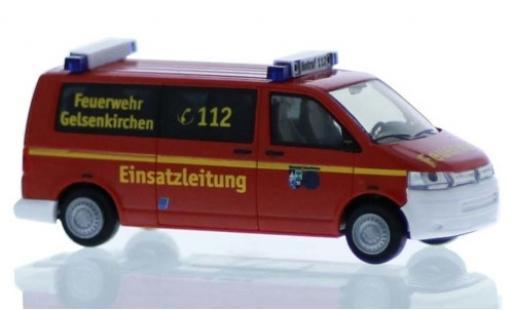 Volkswagen T5 1/87 Rietze Feuerwehr Gelsenkirchen 2010 Le contrôle opérationnel miniature