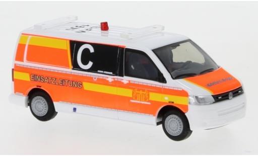 Volkswagen T5 1/87 Rietze Feuerwehr Paderborn 2010 Le contrôle opérationnel miniature