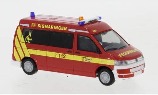 Volkswagen T5 1/87 Rietze Feuerwehr Sigmaringen 2010 diecast model cars