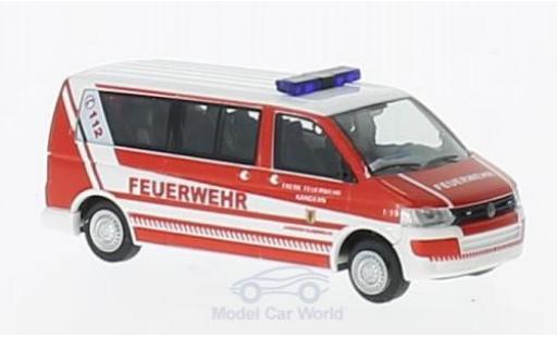 Volkswagen T5 1/87 Rietze GP LR Feuerwehr Kandern ohne Vitrine miniature