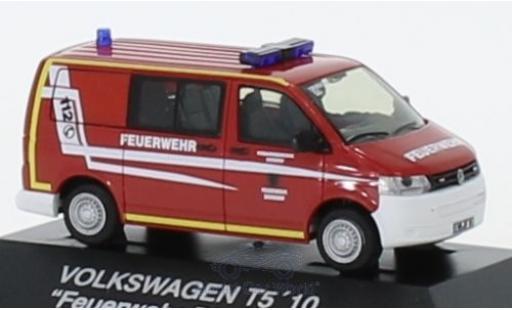 Volkswagen T5 1/87 Rietze Halbbus Feuerwehr Dierdorf 2010 diecast