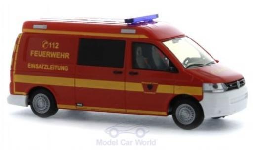 Volkswagen T5 1/87 Rietze Halbbus Feuerwehr Lübeck diecast model cars