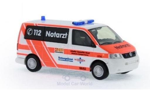 Volkswagen T5 1/87 Rietze Notarzt ASB KV Wiesbaden 2003 diecast