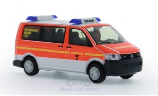 Volkswagen T5 1/87 Rietze Rettungsdienst BF Flensburg 2010 diecast