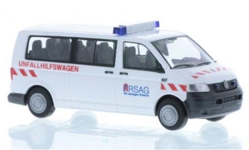 Volkswagen T5 1/87 Rietze Unfallhilfswagen RSAG Rostock diecast model cars