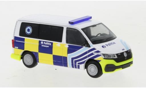 Volkswagen T6 1/87 Rietze .1 Bus Politie Antwerpen (B) diecast model cars