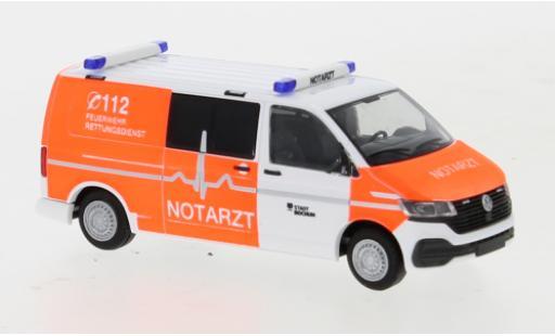 Volkswagen T6 1/87 Rietze .1 Feuerwehr Bochum Notarzt plus long empattement diecast model cars