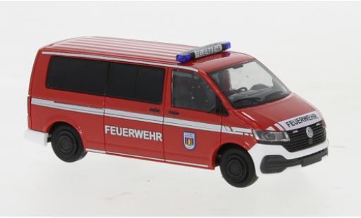 Volkswagen T6 1/87 Rietze .1 Feuerwehr Genthin plus long empattement diecast model cars