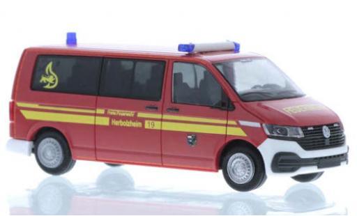 Volkswagen T6 1/87 Rietze .1 Feuerwehr Herbolzheim plus long empattement diecast model cars