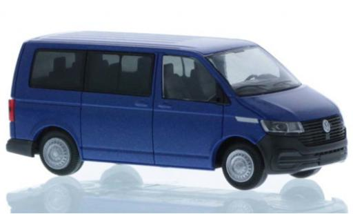 Volkswagen T6 1/87 Rietze .1 metallise blue court- empattement diecast model cars