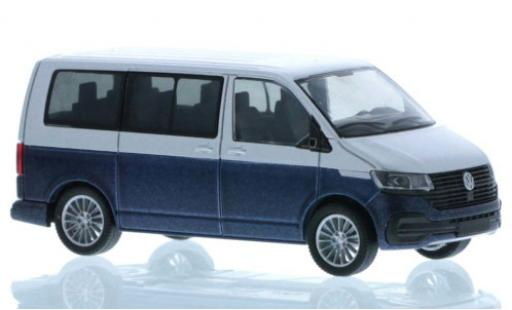 Volkswagen T6 1/87 Rietze .1 grey/metallise blue court- empattement diecast model cars