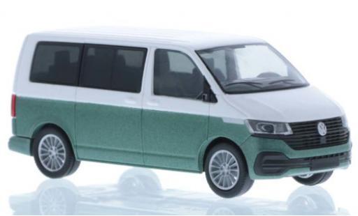 Volkswagen T6 1/87 Rietze .1 white/metallise green court- empattement diecast model cars