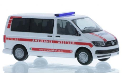 Volkswagen T6 1/87 Rietze Ambulance Westtirol court- empattement diecast model cars
