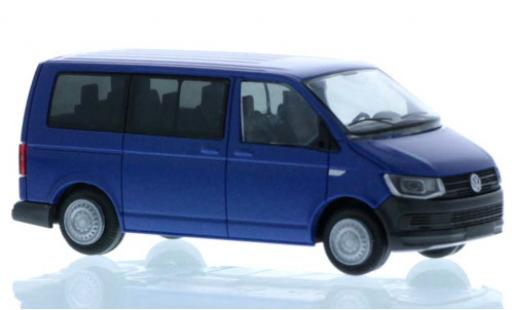 Volkswagen T6 1/87 Rietze Bus blue court- empattement diecast model cars