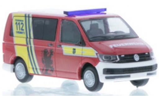 Volkswagen T6 1/87 Rietze Bus Feuerwehr Chemnitz diecast model cars