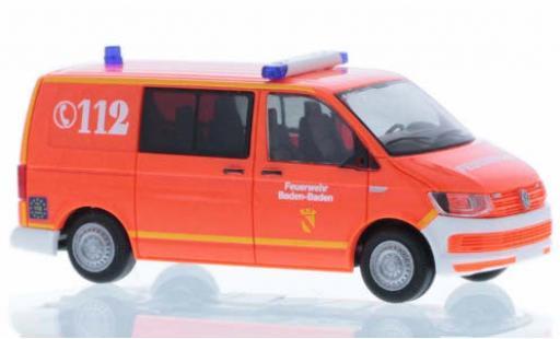 Volkswagen T6 1/87 Rietze Feuerwehr Baden-Baden court- empattement diecast model cars