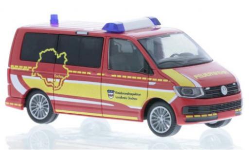 Volkswagen T6 1/87 Rietze Feuerwehr Dachau Kreisbrandinspektion court- empattement diecast model cars