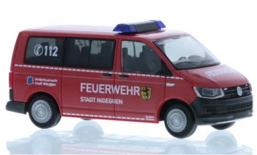 Volkswagen T6 1/87 Rietze Feuerwehr Nideggen court- empattement coche miniatura