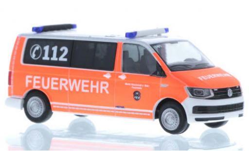 Volkswagen T6 1/87 Rietze Feuerwehr Stockstadt plus long empattement diecast model cars