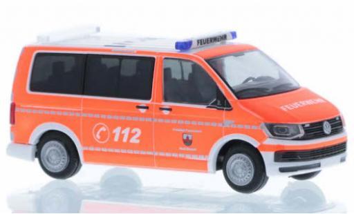 Volkswagen T6 1/87 Rietze Feuerwehr Zirndorf court- empattement diecast model cars