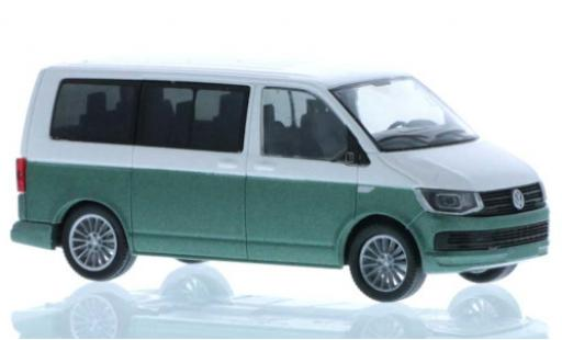 Volkswagen T6 1/87 Rietze white/green court- empattement diecast model cars