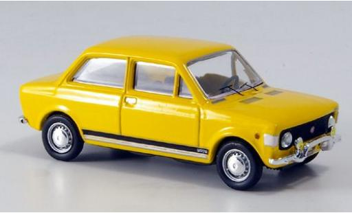 Fiat 128 1/43 Rio Rally yellow 1971 sans Vitrine diecast model cars